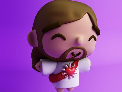 Little jisus 🕊 character design cute kawaii vinil toy cinema4d 3d