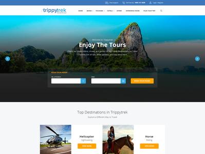 Travel Destination Web Landing Page