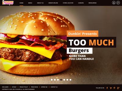 online burger order website design