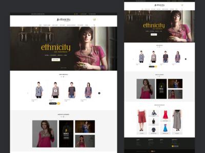 Fashion store landing page UI