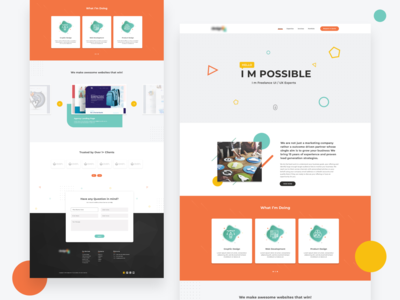 Web Design Agency Landing page Design