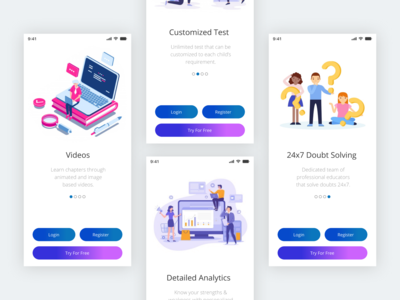 Onboarding Education App screen