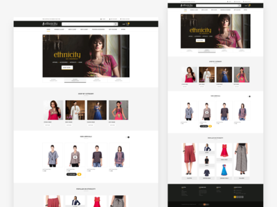 Fashion store home landing page design