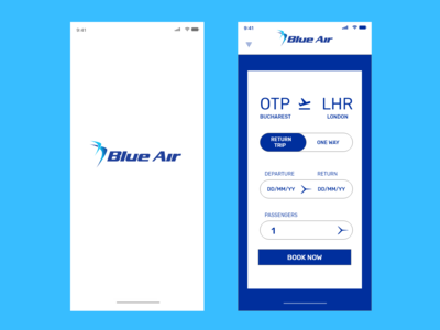 Blue Air Mobile App Concept