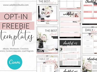 Canva Opt-in Freebie Templates Blush