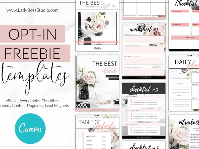 Canva Opt-in Freebie Templates Blush by E-Mail on Dribbble