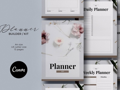 Planner Kit Canva Template
