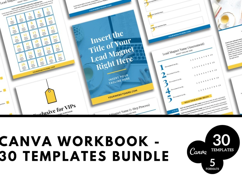 Canva Workbook Templates by E-Mail on Dribbble