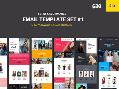 Ecommarce - 6 Email Template set #1