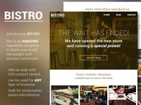Bistro - food and bar email template
