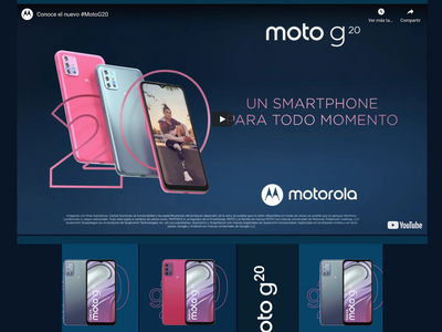 MicroSite Design MockUp for Motorola ui ux web design illustrator