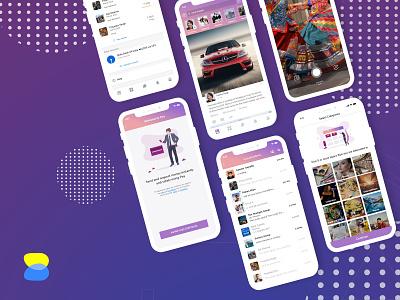 Social Networking app ux ux design user experience social networking app social networking social media app social media mobile app mobile app design design design agency clean design clean app design