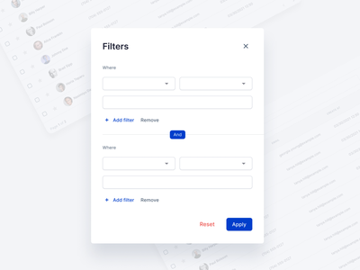 Advanced Filters - Carpatin Design System react components design system carpatin filters advanced filters