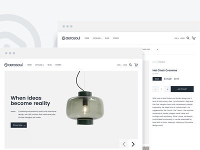 Aerosoul Theme for Shopify furniture store furniture ecommerce furniture shopify theme shopify ecommerce