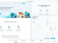 (FREE) FairRate - Finance Web App / UI Kit (.sketch file)
