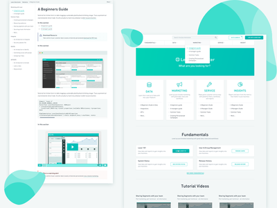 Documentation UI and UX design template help scout center help center help helpdesk documentation