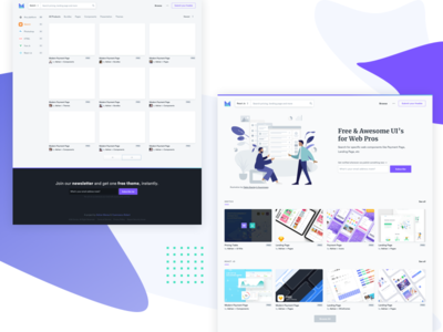 Front End and Design Marketplace for Developers html free template free design files freebies free components react react js