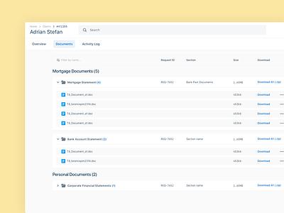 File uploader, document manager saas design web application finance app banking finance mortgage document manager file uploader