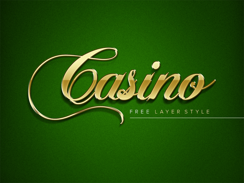 Freebie - Golden Casino Layer Style gold golden shiny casino elegant luxury script mysterious green rich