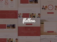 FlatLove - wedding onepage design