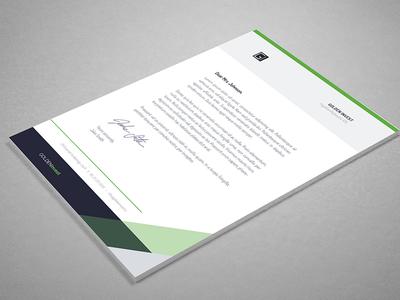 Golden Invest A4 Letter Paper Design