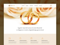 Jewelry WebShop 1st layout