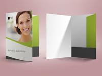 HQDent A4 Folder Mockup