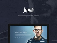 Personal Portfolio Template modern clean blue material personal