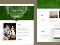 Greener First Preview onepage landing green white bold warm elegant clean