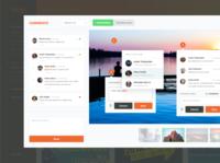 Dashboard - Feedback Platform ui colorful clean dashboard app review feedback comments dashboard ui dashboard