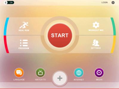 tredmill UI Interface White Version