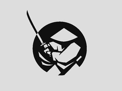 A Samurai warrior creative design dribbble artwork uiux wallart graphics