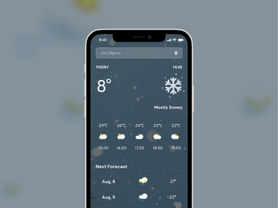 Weather App weather app ux ui dribbble creative design application app design android