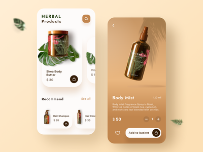 cosmetic mobile App UI UX design trends minimal figma product design medical herbal purchase ecommerce shopping app shop beauty cosmetic branding dailyui design mobile app app ux ui