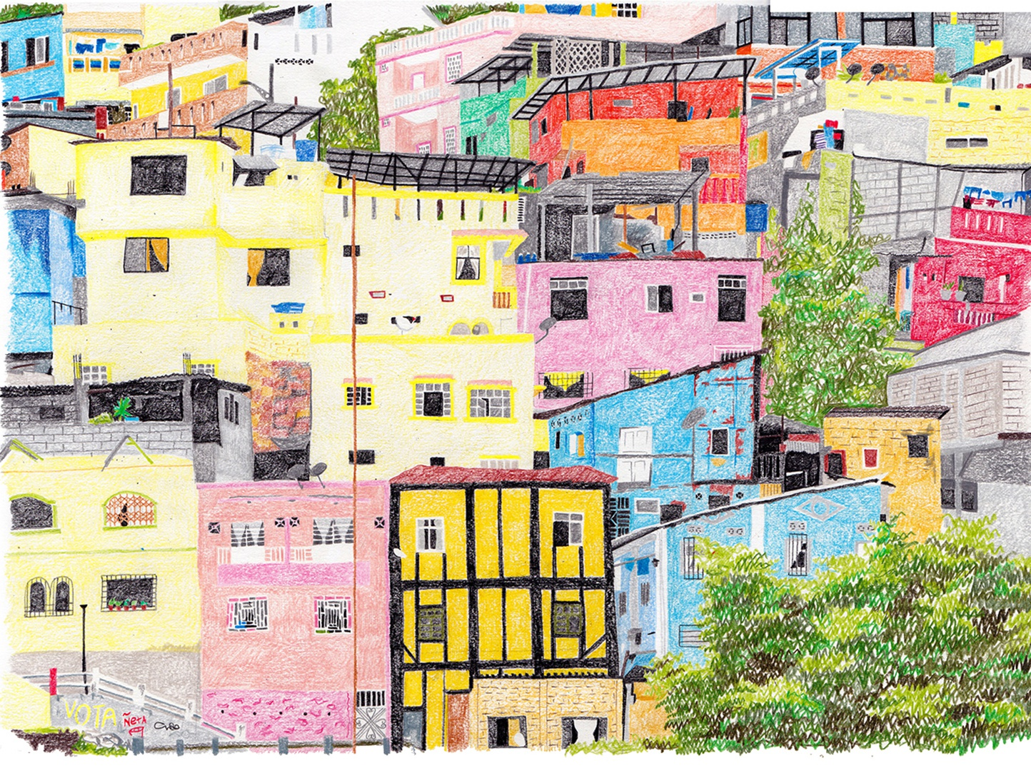 Las Penas illustration drawing art