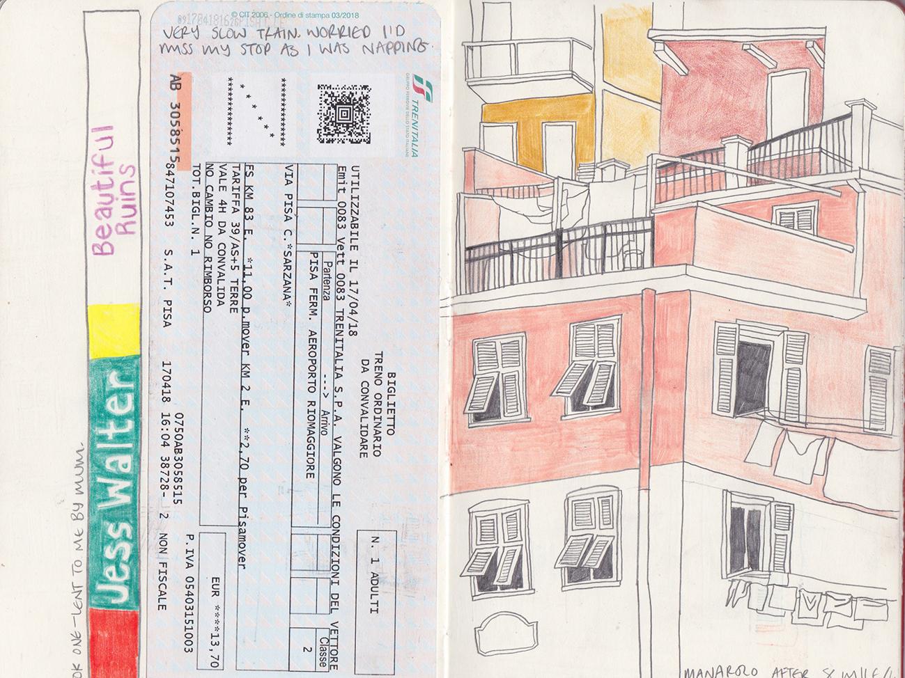 Manarolo 21x26 graphiteandcolouredpencilonpaper