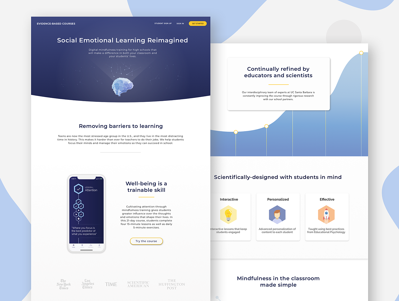 Evidence-Based Courses Teacher Landing Page by Jordan Reese