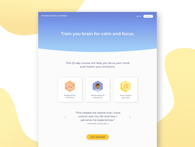 Evidence-Based Courses Student Landing Page