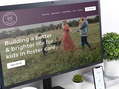 Non-Profit Website ui art graphic design minimal typography design web website