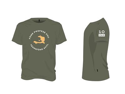 P4H Global 10th Anniversary Shirt Design non profit shirt design layout textile design shirt illustration lettering clean typography art minimal graphic design design
