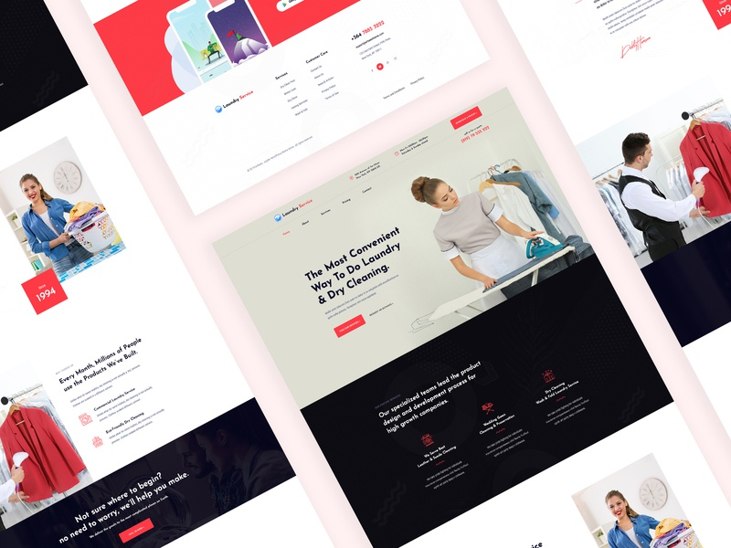 Dry Cleaning & Laundry Service laundry service landing page modern ui uiux web design washing tailor repair laundry ironing glass cleaning dry wash dry cleaning clothing repair cloth clean cleaning company cleaning business
