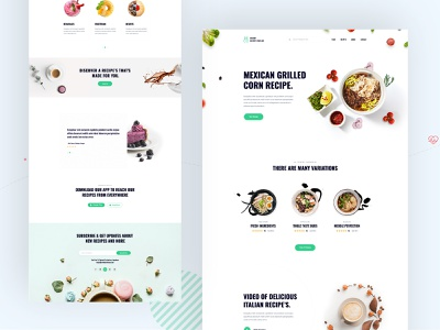 Delight Recipe's Landing Page nutrition kitchen fitness recipe theme recipe listings organic recipes foodnetwork food recipes recipes recipe card recipe foodie food blogger food blog food craft cooking