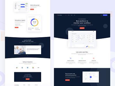 Saas Startup Landing Page webdesign uidesign uiux landing page workflow solution integration software marketing digital marketing team management pricing web application web app app application product saas startup