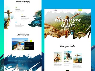 Adventure is Life artbees website design website templates responsive website templates user interface design landing page modern adobe photoshop template adventure