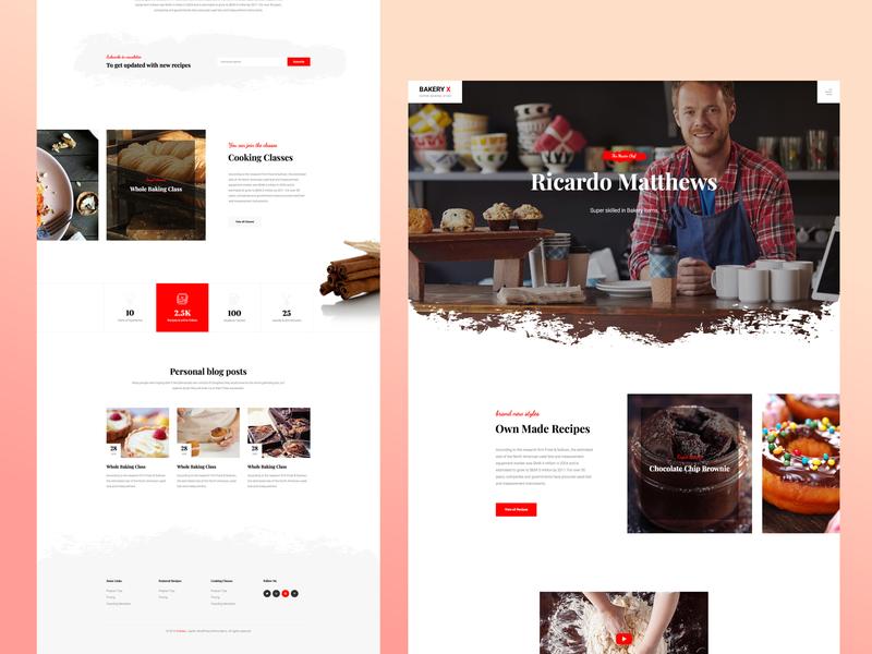 Bakery Template Design template clean design wordpress design template design