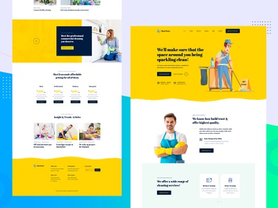 MaxClean - Cleaning company PSD Template website design clean template corporate modern