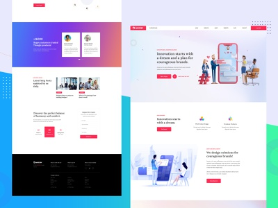 Multipurpose Agency PSD Template design website templates template design user interface design landing page modern multipurpose template