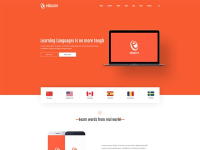 Educare - Template tutoring lms lessons learning management system forums education e-learning courses course management classes buddypress