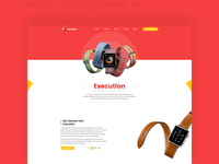 Apple Watch Product Showcasing Homepage Concept