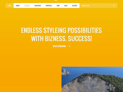 Bizness - Corporate Business landing page. web home landing corporate